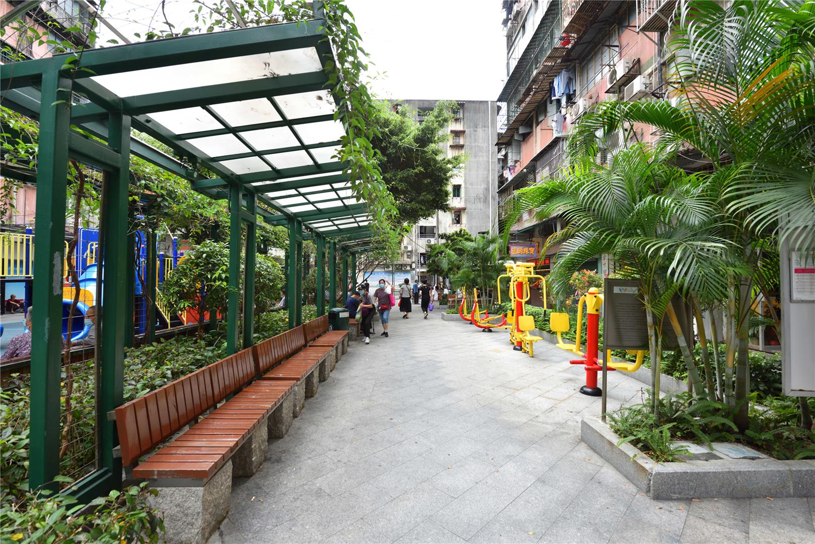 Leisure Area in Rua Quatro do Bairro Iao Hon