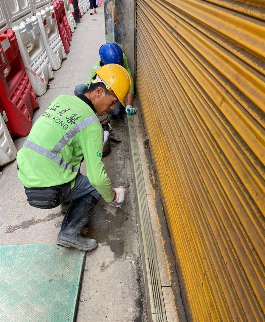 罗白沙街管道工程范围现轻微沉降属正常