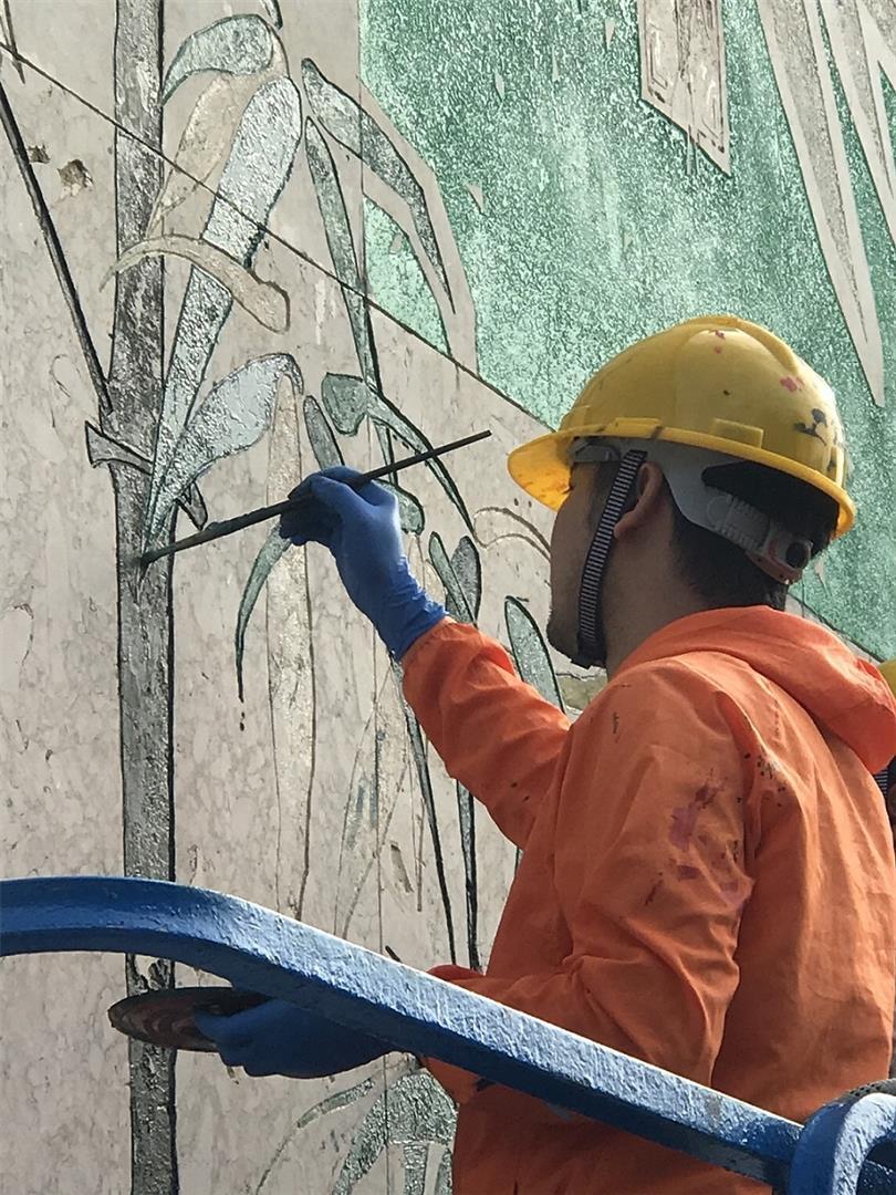 松山石刻壁画修复完成