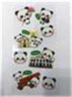 立體泡泡熊貓貼紙a款(大砲台)