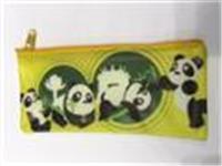 A5 Giant Panda zipper bag (yellow)