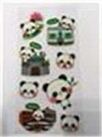 立體泡泡熊貓貼紙b款(媽閣廟)