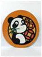 Giant Panda coaster (c) orange