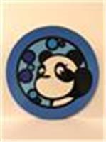 大熊貓杯墊 - f款(淺藍色)