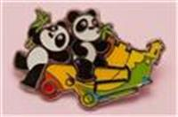 World heritage site Giant Panda pin (Mount Fortress)
