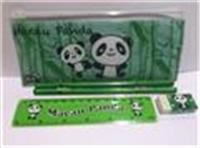 Stationery set with pencil case (green)