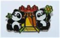 World heritage site Giant Panda pin (A-Ma Temple)
