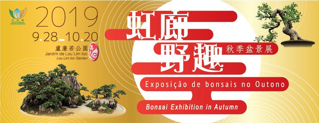 Galeria arco-íris - Exposição de bonsais no Outono de 2019